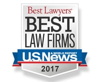 Best Law Firms U.S. News 2017 badge